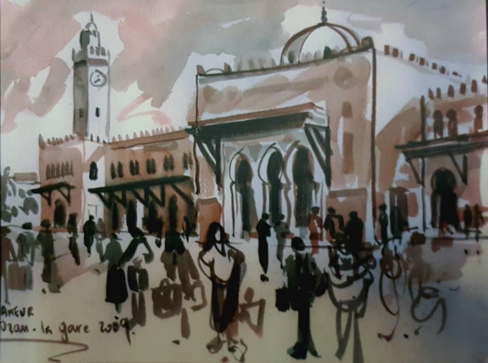 Ameur Hachemi, croquis, carnets de voyage
