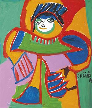 Chaïbia Tallal ( Maroc / 1929 – 2004) – Aicha 1998 – Vente: 41 100 € (440 000 DH)