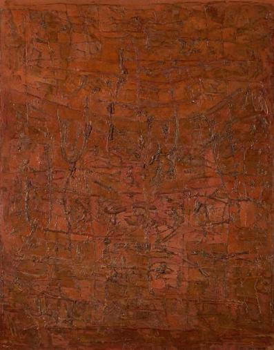 Abdallah BENANTEUR (Algérie / né en 1931) – L'évocation des signes 1958 – vente : 11 475 €