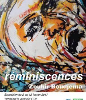 """Zouhir Boudjema Expose du 2 au 11 Février 2017 """" Réminiscences"""""""