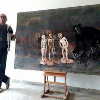 """Abdellatif Mehdi expose """"l'impudeur du mal"""" à la galerie la palette d'art, Casablanca (Mar)"""