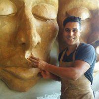 """""""Masques et sculptures"""" Abdelghani Bouzian expose à la Galerie IBN KHALDOUN à Tanger (Mar)"""