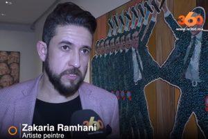 Zakaria Ramhani expose à l'Atelier 21, Casablanca (Mar)
