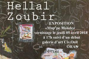 """""""Map'pe Monde"""", HELLAL ZOUBIR expose à la galerie d'art CivOeil Oran"""