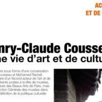 Acteurs de l'art de la culture : Henry-Claude COUSSEAU au H2 61/26 (Casa)