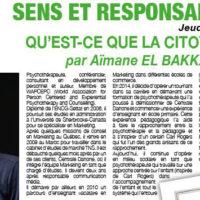 SENS ET RESPONSABILITÉ #2 : QU'EST-CE QUE LA CITOYENNETE ? par Aïmane EL BAKKALI KASSIMI