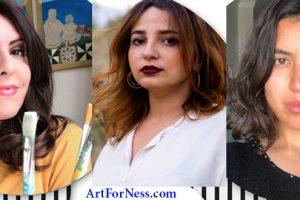 """Movement"" : Mejda Ben (Alg), Dorra Mahjoubi (Tun) et Nadia Mounier (Egy) sur ArtforNess.com, du 25 Juin au 6 Juillet 2021"