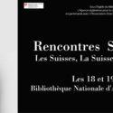 """""""Rencontres Suisse-Algérie"""" Les 18 et 19 Mars 2017 à la bibliothèque nationale"""